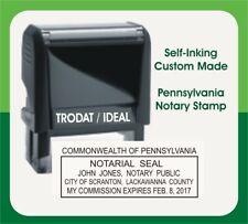 Pennsylvania Notary Public Trodat Ideal Custom Self Inking Rubber Stamp