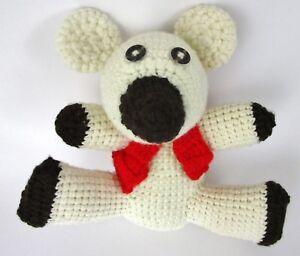 Handmade-Crochet-Bear-Toy-Stuffed-Animal-Polar-Red-Vest-Baby-Folk-Crafted-10-034