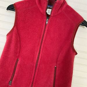 Patagonia-Synchilla-Fleece-Zip-Vest-Polyester-Red-Women-s-Size-S-25163