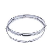 """CHROME 14/"""" // 6 hole Drum HOOP RIM 2.3m Triple Flange Snare tom hardware NOS"""