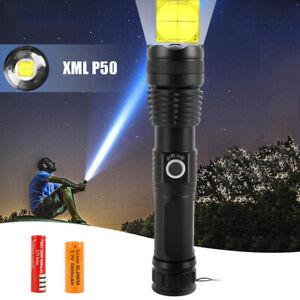 Lampe-torche-rechargeable-zoom-la-puissance-elevee-900000Lumens-XHP50-LED-BR