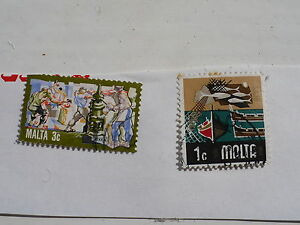 2 Stamps from Malta - <span itemprop=availableAtOrFrom>Stafford, United Kingdom</span> - 2 Stamps from Malta - Stafford, United Kingdom
