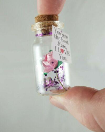 Cadeau personnalisé pour Best Mum Mère dans une bouteille Carte Cadeaux Unique