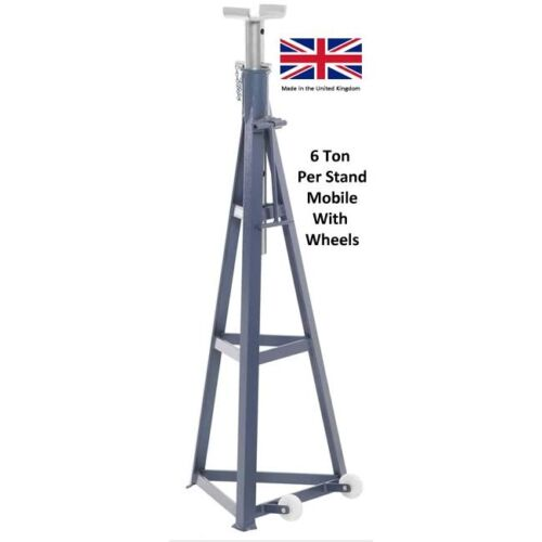 6 Ton Axle Stand c//w Wheels High Level FREE DELIVERY AS60 WHEELS