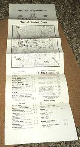 1950s-KARNAK-Travel-map-Central-CAIRO-Egypt-NILE-VALLEY-Mediterranean-color