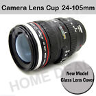 Camera Glasslook Lens Coffee Tea Travel Thermos Mug Stainless Steel Cup 24-105mm