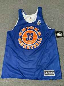 buy popular 9fbba 651ce Details about Vintage New York Knicks Starter Reversible Practice Jersey  NEW 52 XL Ewing 33