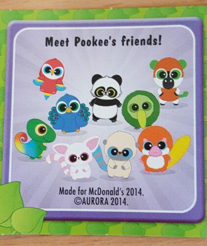 Various McDonalds Happy Meal Toy 2016 Yoohoo /& Friends Plush Bag Hanger Toys