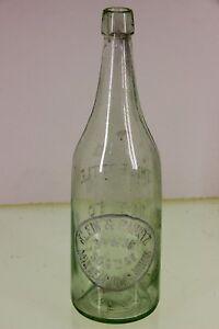 Vintage Klein Pauntz Beer Liquor Bottle Minneapolis MN Minnesota Embossed