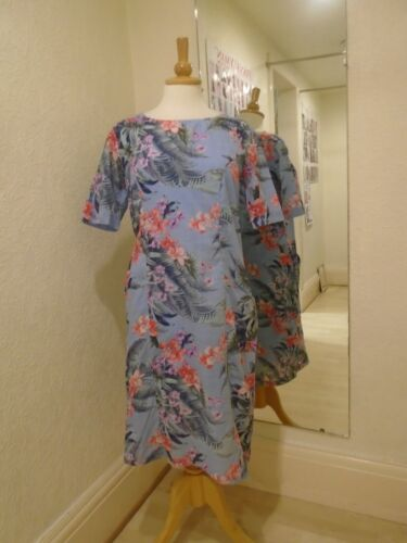 Pomodoro Pacific Cornflower Blue Flower Print Dress 71921