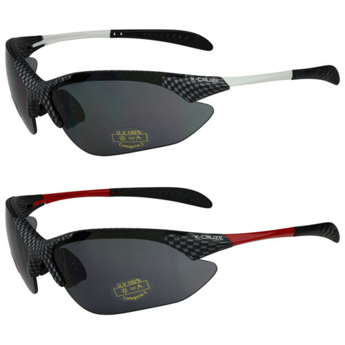 2er Pack X-CRUZE ® Vélo Vélo//Lunettes de soleil Lunettes Homme Femme Noir Rouge