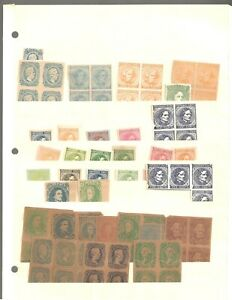 U S stamps confederate states collection of 200+ items unused facsimiles