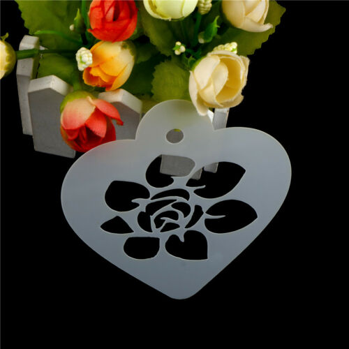Excellent Rose Flower Leaf Cake Stencil Wedding Coffee CupcakeCookieDecorationBD