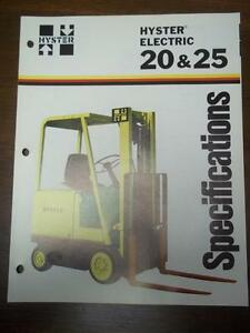Details about Hyster Lift Truck Brochure~Electric E20B  E25B~Specifications~Catalog Insert 1976