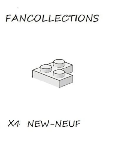 LEGO x 4 2420 NEUF White Plate 2x2 Corner