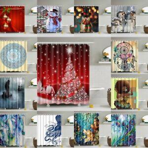 Image Is Loading 3D Print Home Bathroom Shower Curtain Waterproof Fabric