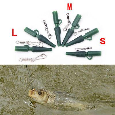 30X GRÜN Karpfen angeln Gewicht blei clips snap link wirbel größe 3 für haarPDH