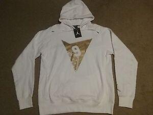 Nike Air Jordan VII 7 Retro Pull Over Hoodie Olympic Gold White vi ... 3f845da78c31