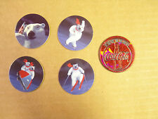 COCA-COLA POLAR BEAR by POG, CANADA GAME, COKE  POGS/MILKCAPS  SET/LOT OF (4+1)