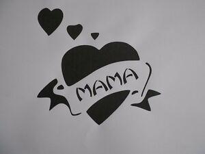 Schablone Herz Mama Auf A4 Ebay