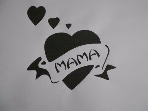 """Schablone /"""" Herz Mama  /"""" auf A4"""