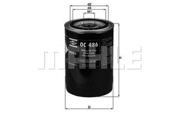KNECHT Filtro de aceite CITROEN JUMPER PEUGEOT BOXER FIAT DUCATO IVECO OC 486