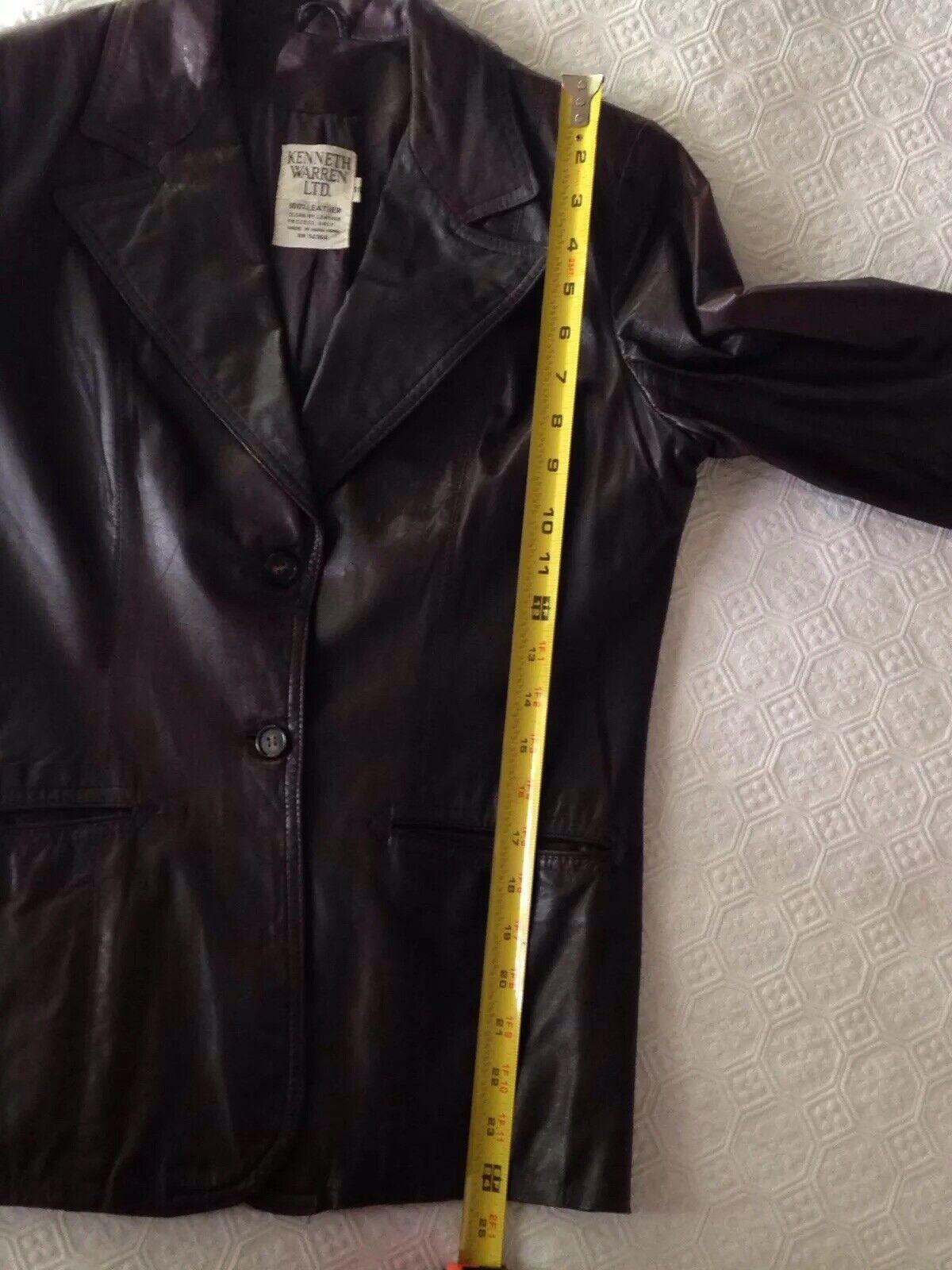 1970S Vintage Women's Dark Brown Leather Blazer J… - image 11