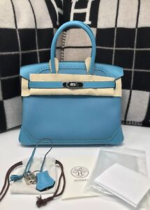 711b0749ff56 Image is loading 100-Authentic-BRAND-NEW-Hermes-Birkin-30-Ghillies-