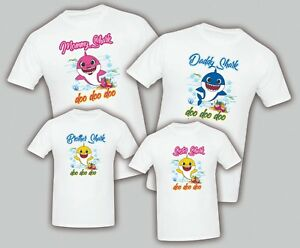 Image Is Loading Baby Shark Birthday Matching T Shirts Party Family
