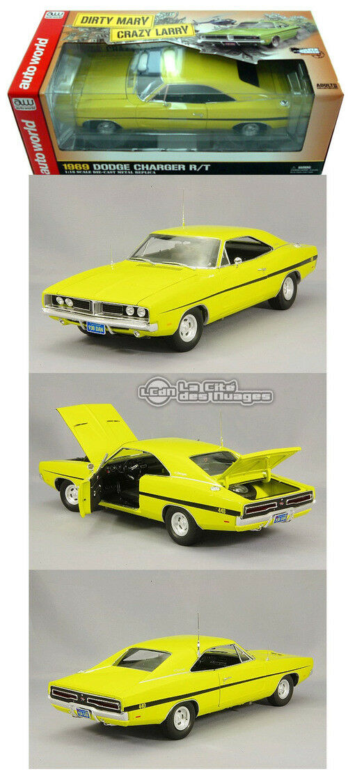 Dirty Mary Crazy Larry 1969 Dodge Charger R T Diecast 1 18 AWSS101 Auto World