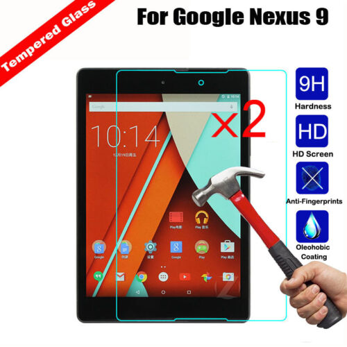 2Pcs Tempered Glass Screen Protector For Google Nexus 9 Tablet// Pixel C tablet
