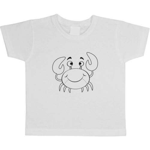 TS004539 /'Crab/' Children/'s Kid/'s Cotton T-Shirts