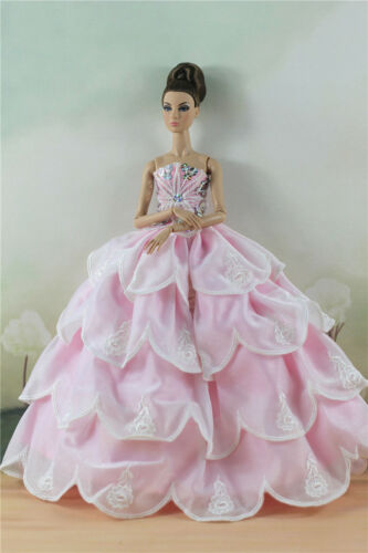 Fashion Party Dress//Wedding Clothes//Gown For 11 in Doll d44