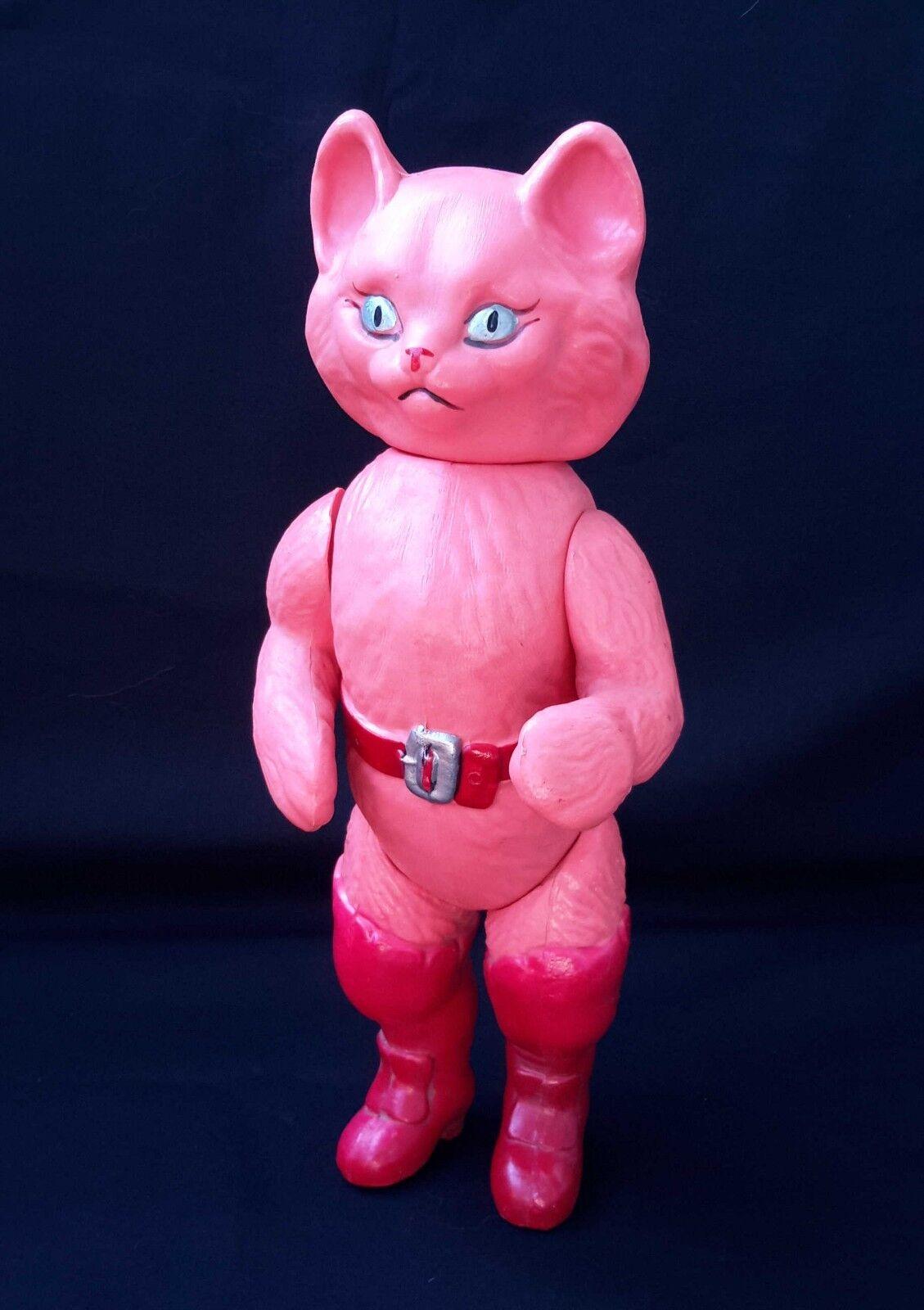 Carácter Ruso Soviético Urss década de 1960  Puss in botas  Gato celuloide de cuento de hadas