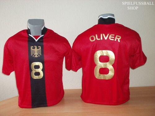 Allemagne maillot Red Adultes Tailles nom NR possible ZB Ronaldo Griezmann