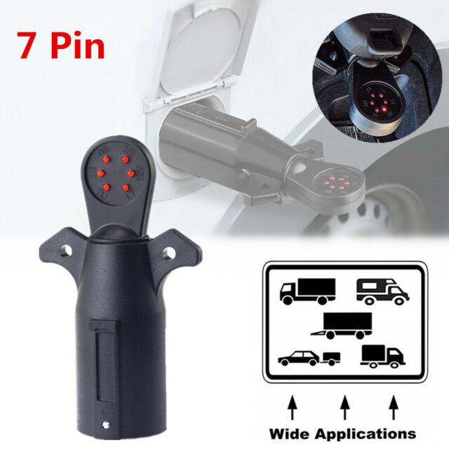 7 Pin Way Blade Trailer Light Wiring Circuit Tester Round