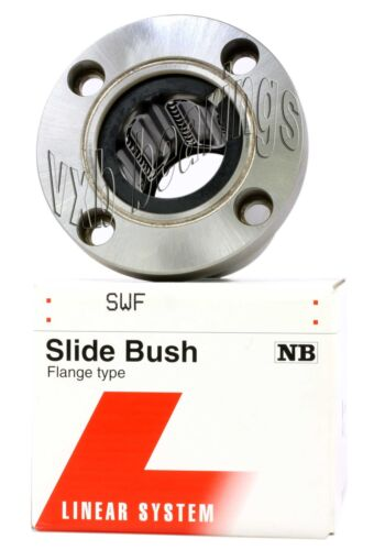 NB SMF6GW 6mm Slide Bush Miniature Linear Motion Bushings Bearings 20182