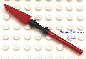 NEU-Lego-Ninjago-Samurai-X-rot-Speer-des-Feuer-Ninja-Minifiguren-Waffe-Messer-Personal