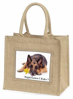 Personalisiert Name Schäferhund Große Natürliche Jute-einkaufstasche,