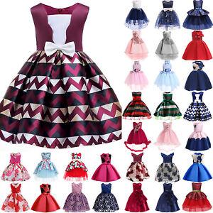 Flower-Kids-Girls-Ball-Gown-Evening-Party-Wedding-Bridesmaid-Princess-Tutu-Dress