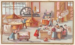 Chromo-CHOCOLAT-GUeRIN-BOUTRON-INDUSTRIES-Blanchisserie