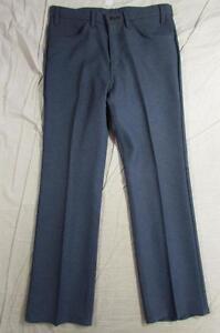 Vtg-USA-Made-Levi-10-517-Sta-Prest-Pants-Tag-35x30-Measure-34x31-Polyester-Dress