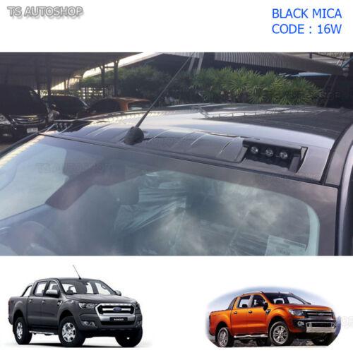 Black Gloss Led Front Roof Spoiler Cover Ford Ranger T6 Mk Px2 2012 2015 2016