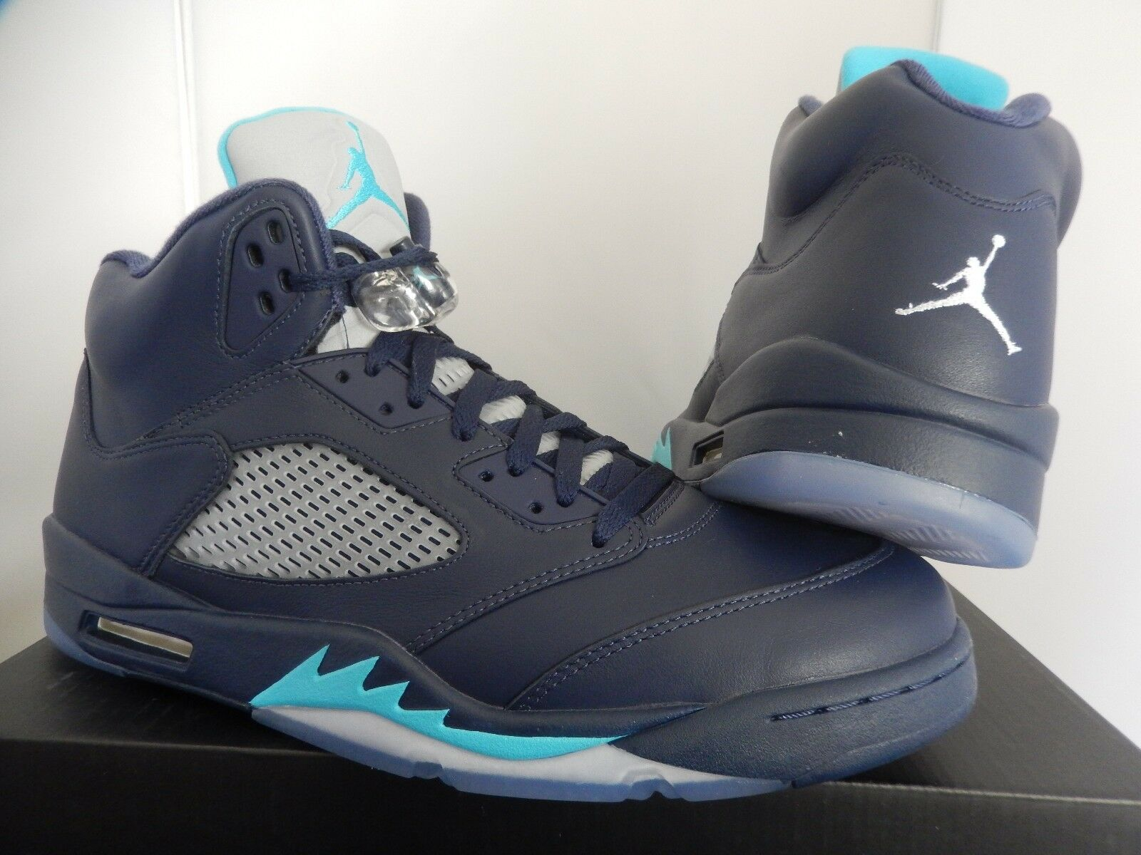finest selection 0f259 2800b ... NIKE NIKE NIKE AIR JORDAN 5 RETRO MIDNIGHT NAVY blueE-WHITE SZ 14   136027 ...