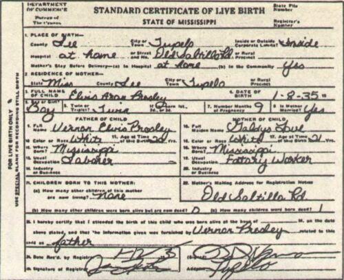 ELVIS PRESLEY KING OF ROCK /& ROLL BIRTH CERTIFICATE METAL SIGN LOVELY GIFT