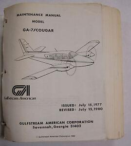 ga 7 cougar grumman american original maintenance manual ebay rh ebay com Grumman Panther Grumman F9
