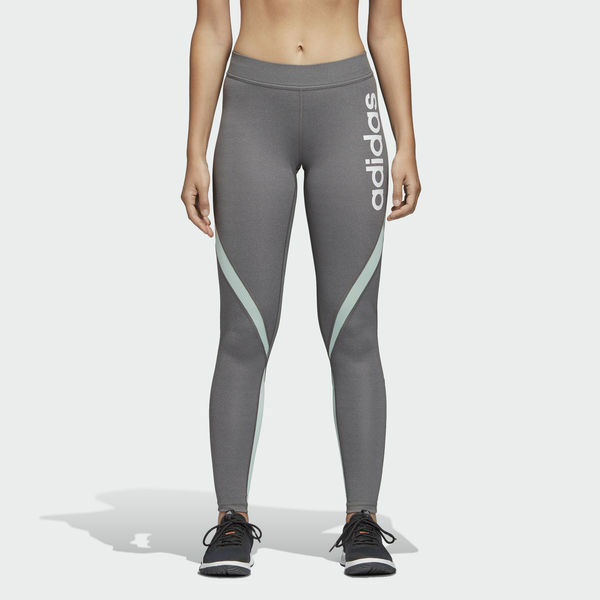 Adidas women's linear tights DT7006 grey size s
