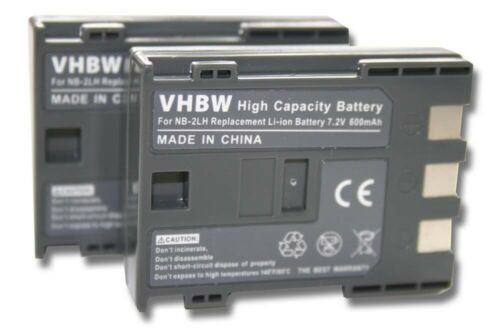 2x cámara acu batería 600mah para Canon PowerShot g7//g9
