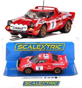 scalextric c3930 lancia stratos tour de course rally winner slot car