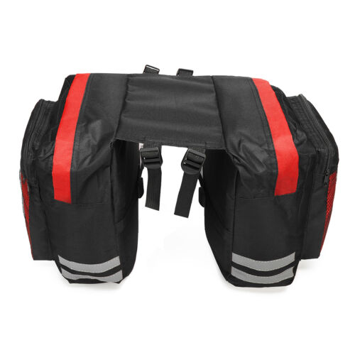 600D 20L Bike Bicycle Rear Rack Seat Saddle Bag Pannier Tail Durable Bags